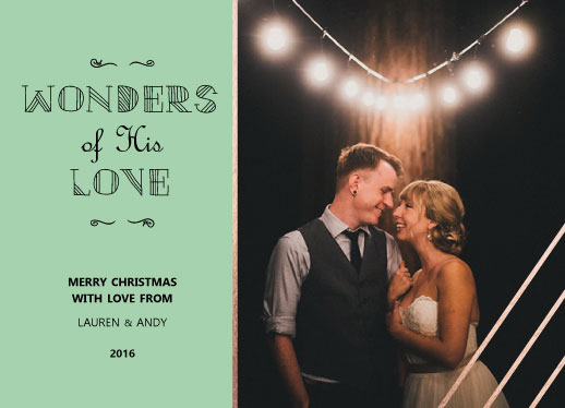 holiday photo cards - Lauren & Andy by Dandelion Paper Co.
