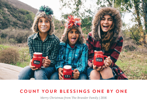 holiday photo cards - Count Your Blessings by Alex Cottles