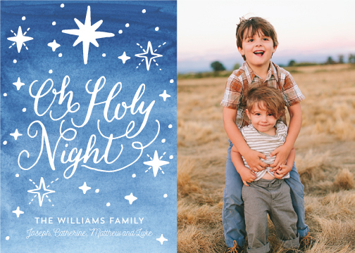holiday photo cards - Holy Star Night by Nicole Barreto