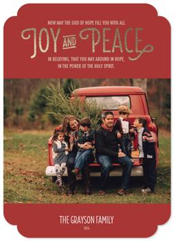 Joy & Peace in Believing