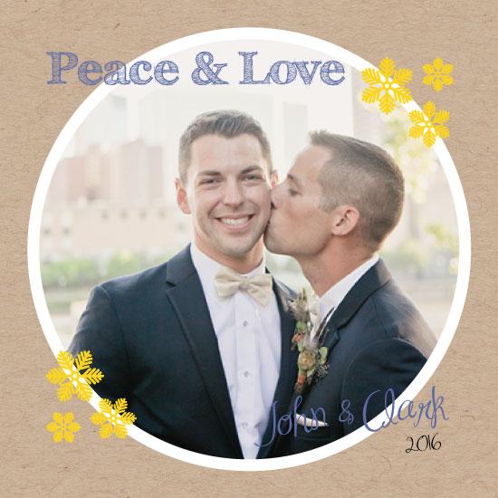 holiday photo cards - Peace & Love by Juliana Motzko