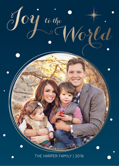 holiday photo cards - Joyful World by Design Elle