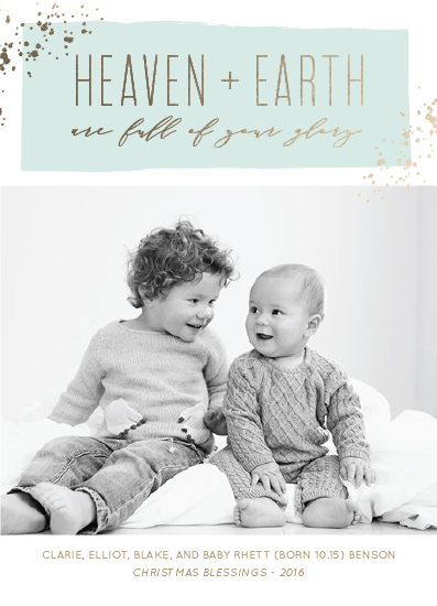 holiday photo cards - Heaven + Earth by Kaydi Bishop