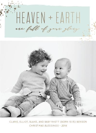 holiday photo cards - Heaven + Earth by Kaydi Bishop
