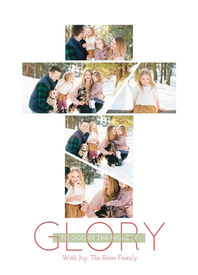 holiday photo cards - Glory Cross by Jenn Wheat