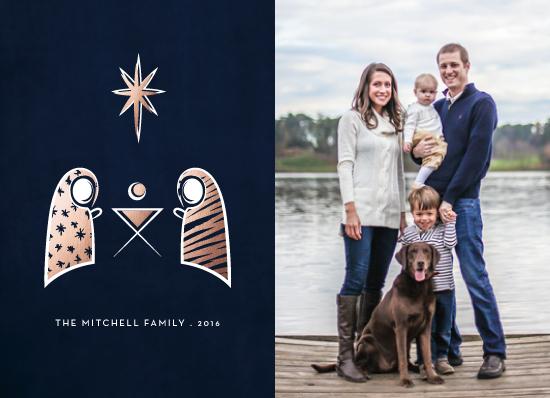 holiday photo cards - Modern Nativity by Becky Nimoy