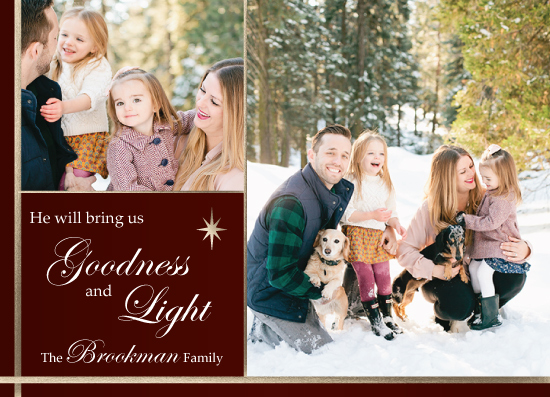 holiday photo cards - Goodness & Light by Maria Pormilli