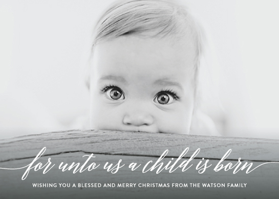 holiday photo cards - Child is Born by Nicole Barreto