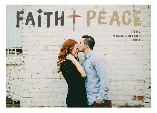 holiday photo cards - Faith + Peace by fatfatin