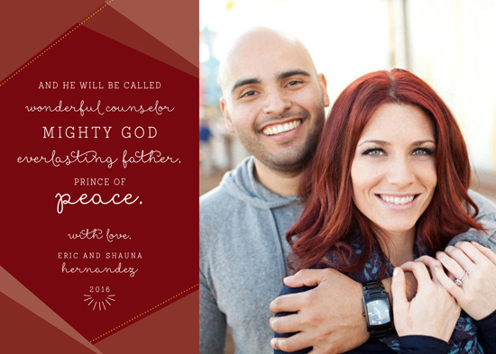 holiday photo cards - He Will Be Called... - Red by Shauna Hernandez