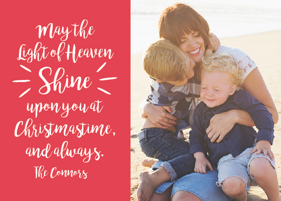holiday photo cards - light of heaven by Guess What Design Studio