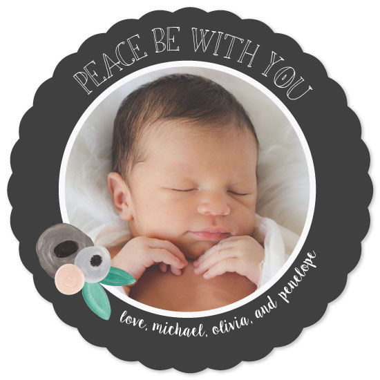 holiday photo cards - peace be with you little one by Pippi and Penelope