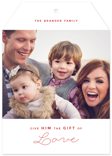 holiday photo cards - give HIM love by Alex Cottles