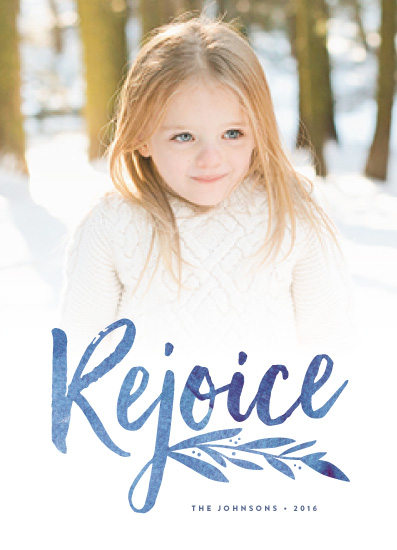 holiday photo cards - Vivid Rejoice by Olivia Raufman