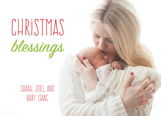 holiday photo cards - Wishing Christmas Blessings by Jennifer Elwell