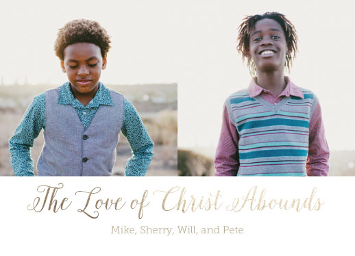 holiday photo cards - Love Abounds by Jennifer Elwell