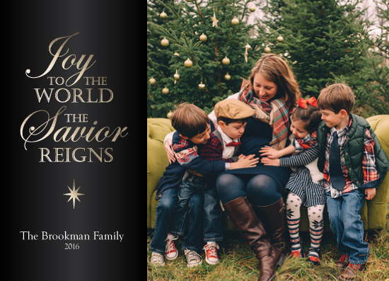 holiday photo cards - Savior Reigns by Maria Pormilli
