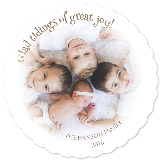 holiday photo cards - Glad Tidings by Kathleen Petit