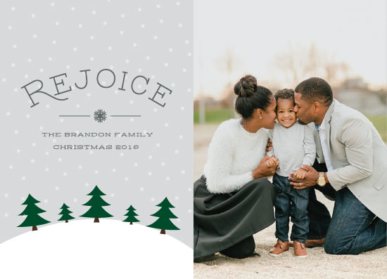 holiday photo cards - Rejoice and be glad in it by High5ive Creative