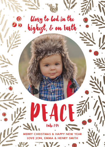 holiday photo cards - On Earth Peace by Green Hound Press
