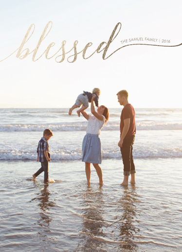 holiday photo cards - Blessed Life by ashnee eiram