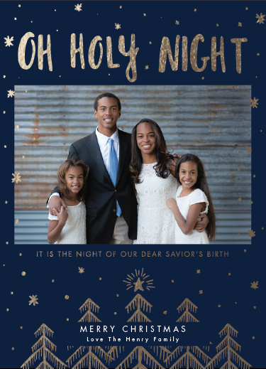 holiday photo cards - O Beautiful Holy Night by Green Hound Press