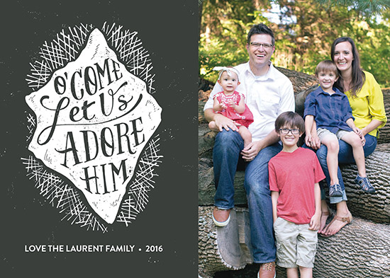 holiday photo cards - O' Come Let Us Adore Him by Patrick Laurent