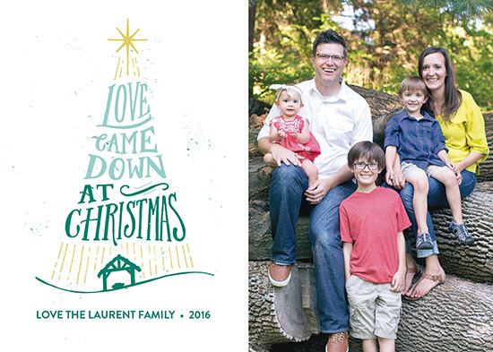 holiday photo cards - Christmas Love Came Down by Patrick Laurent