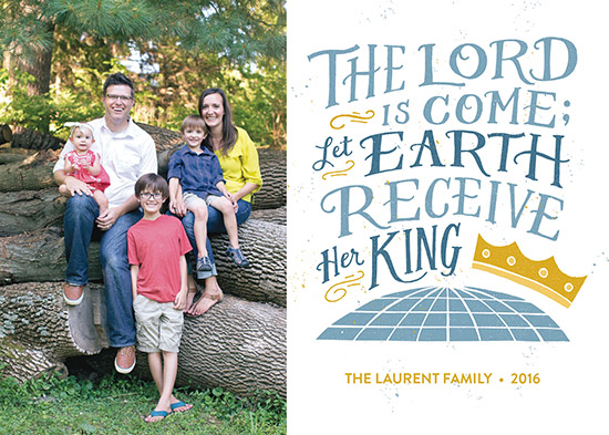 holiday photo cards - Earth Receive Her King by Patrick Laurent