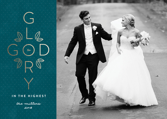 holiday photo cards - Glory to God Cross by Erica Krystek
