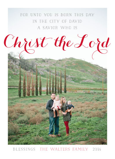 holiday photo cards - Christ the Lord by JOHNONE 3 DESIGNS