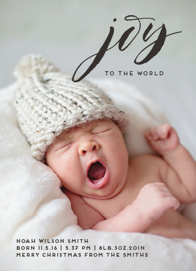 holiday photo cards - Joyful Birth by PIXELIMPRESS