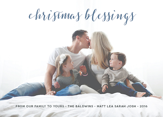 holiday photo cards - Simple Blessings by PIXELIMPRESS