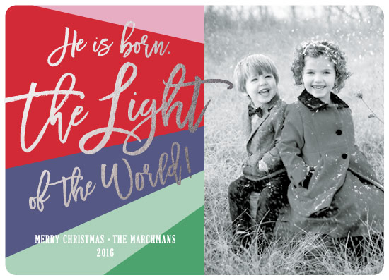 holiday photo cards - Light of the World by Lauren Young