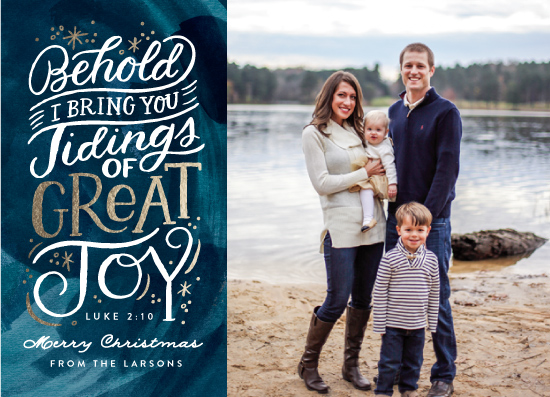 holiday photo cards - Tidings of Great Joy Script by Alethea and Ruth
