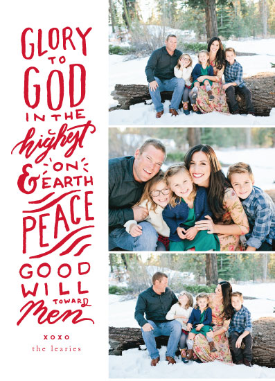 holiday photo cards - Glory To God Lettered by Viv Jordan
