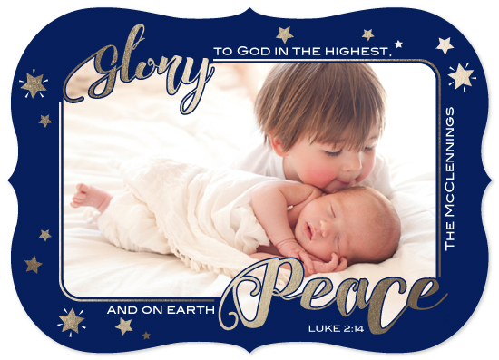 holiday photo cards - Glory and Peace by Elizabeth Murphy