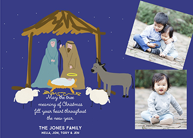 holiday photo cards - Oh little manger by Leslie Chalfont