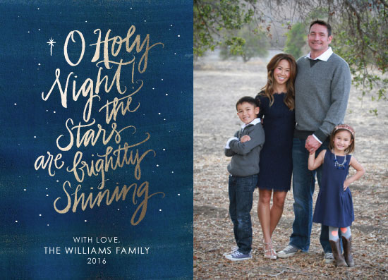holiday photo cards - O Holy Night - Hand Drawn by Bri Davey
