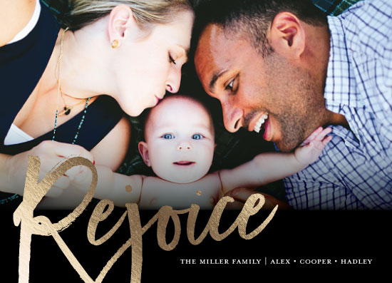 holiday photo cards - Rejoice Always by Cassandra Imagines