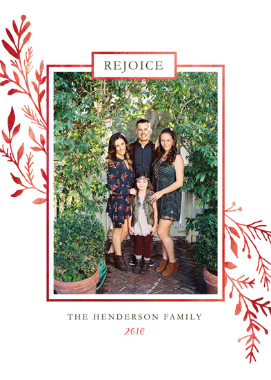 holiday photo cards - Rejoice in Him by Marta Berk