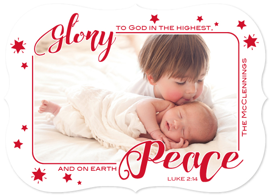 holiday photo cards - Glory to God in the highest by Elizabeth Murphy