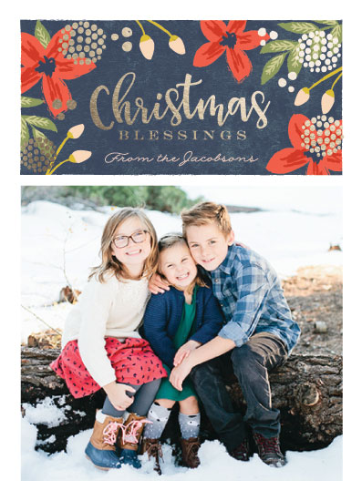 holiday photo cards - Christmas garden blessings by Karidy Walker