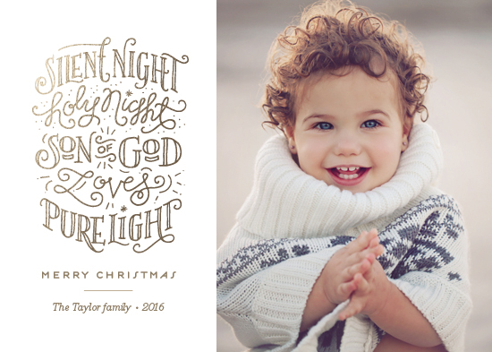 holiday photo cards - Silent holy night by Jennifer Wick