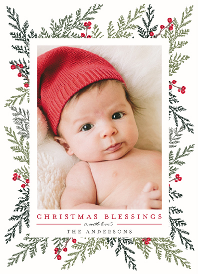 holiday photo cards - Christmas Blessings by Susan Moyal