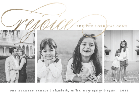 holiday photo cards - Arrival Rejoiced by Amy Kross