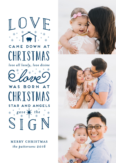 holiday photo cards - Love Came Down At Christmas by Lehan Veenker