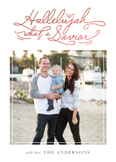 holiday photo cards - What a Savior by Jen Wagner