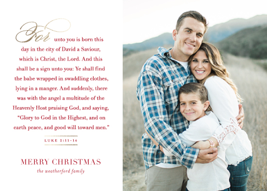 holiday photo cards - Words from Luke by Jessica Williams
