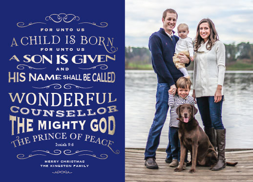 holiday photo cards - Bible Quote Isaiah 9.6 by Debb W